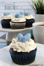 Coconut Birds Nests Cupcakes