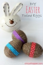 Easy DIY Twine Easter Eggs
