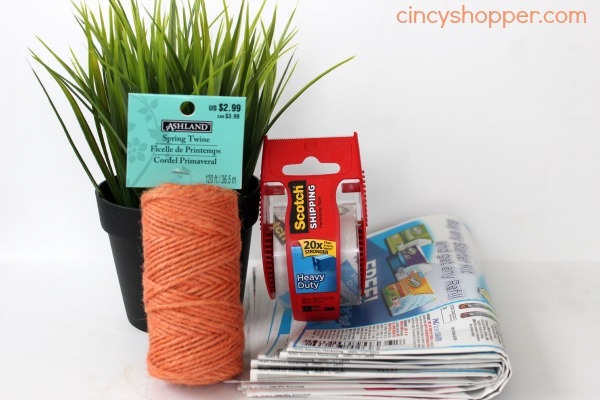 DIY Twine Easter Carrots