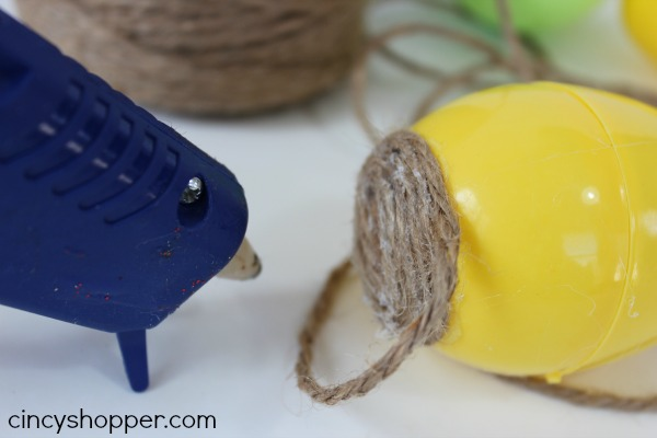 DIY Twine Easter Eggs 3