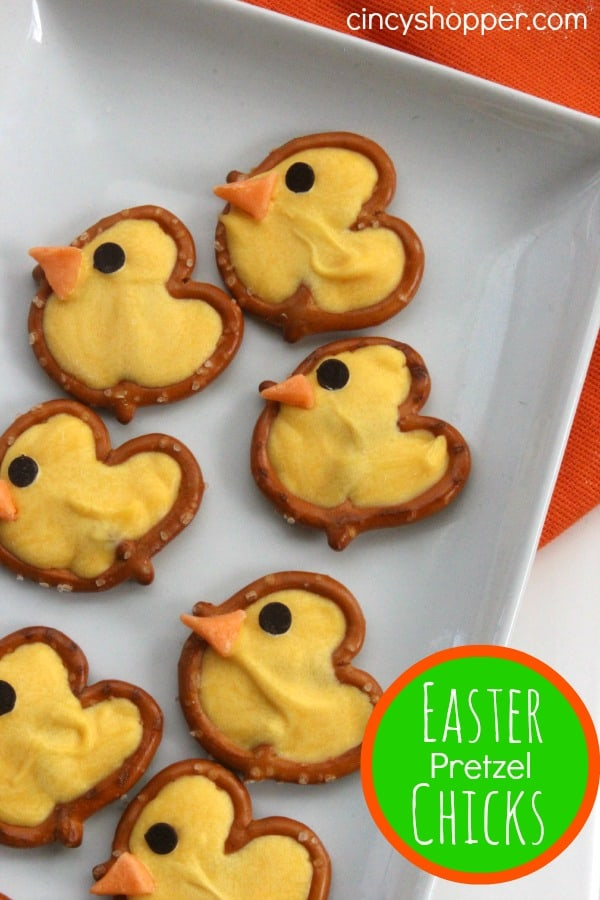 Easter Pretzel Chicks | Easter Desserts Recipes to Make this Year