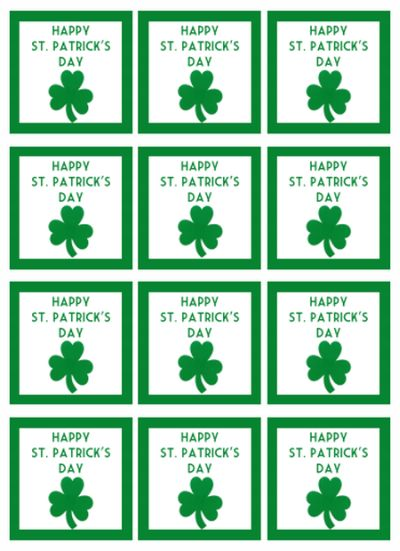 Happy St Patrick's Day Label
