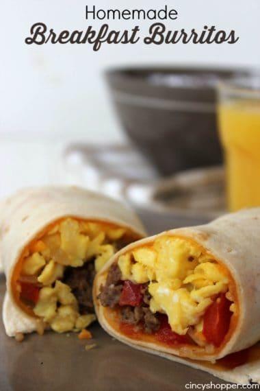 Homemade Breakfast Burritos