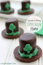 St Patrick's Day Marshmallow Leprechaun Hats
