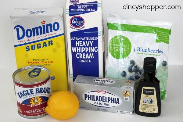 Easy Blueberry Cheesecake Ice Cream Recipe. No machine needed. Yum!