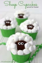 Sheep Easter Cupcakes