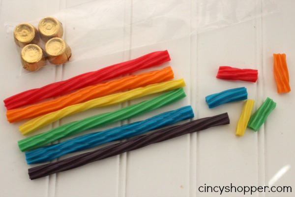 St Patrick's Day Rainbow Twizzler Treat Bags