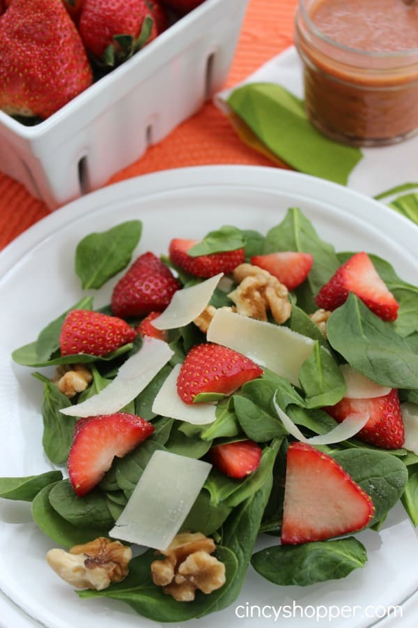 Strawberry Walnut Salad Strawberry Vinaigrette