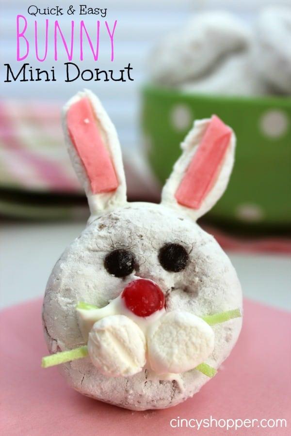 Bunny Mini Donut Treat for Easter