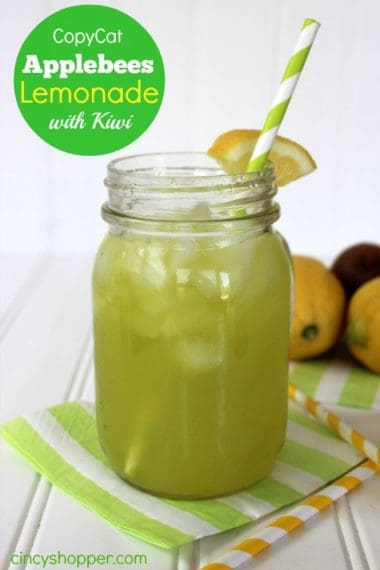 CopyCat Applebee's Lemonade with Kiwi Recipe