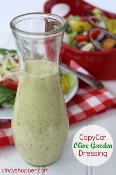 CopyCat Olive Garden Salad Dressing Recipe