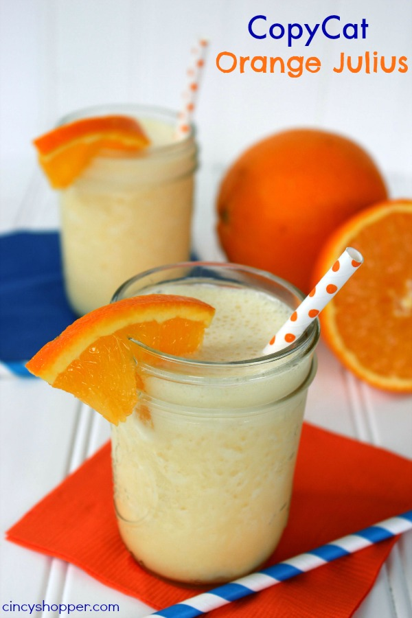 CopyCat Orange Julius- Simple to make right at home.