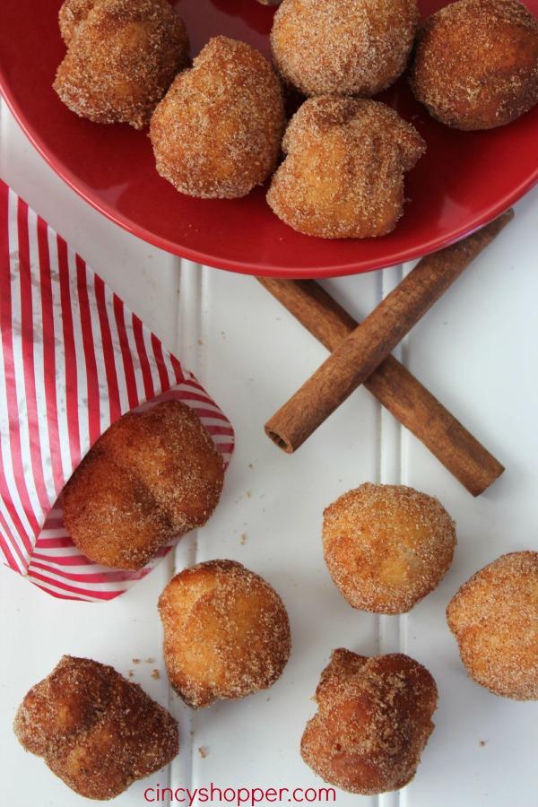 Easy Cinnamon Sugar Donut Bites 5
