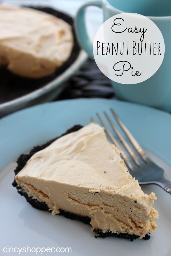 Easy Peanut Butter Pie Super easy pie that is great for peanut butter fans.