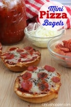 Mini Bagel Pizzas Recipe