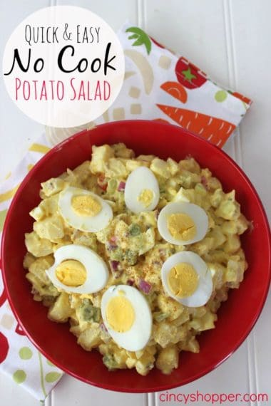 Quick & Easy No Cook Potato Salad Recipe