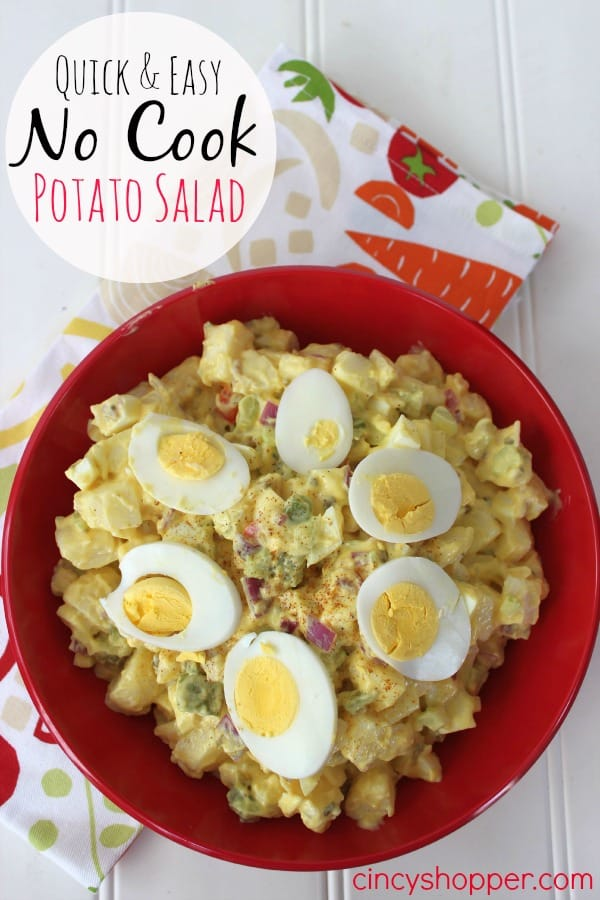 Quick and Easy No Cook Potato Salad