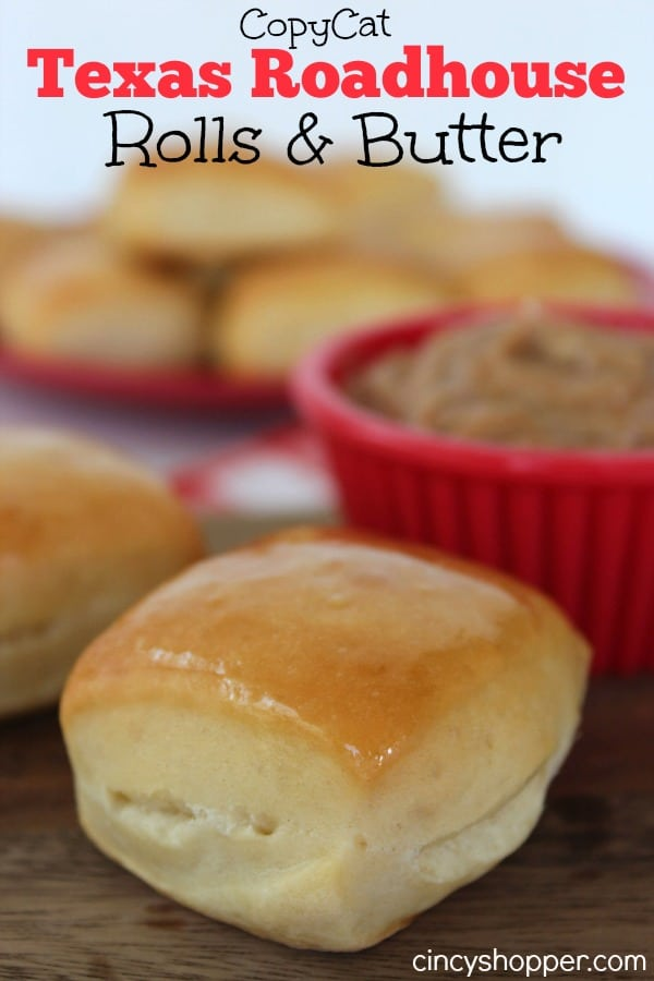 CopyCat Texas Roadhouse Rolls and Honey Butter Super easy to make right at home. Great side addition to just about any meal.