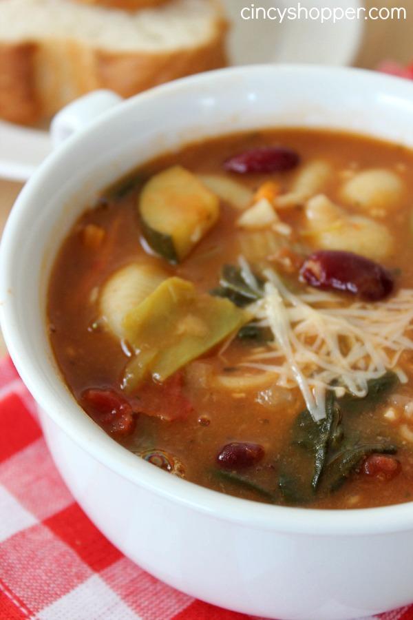 copycat olive garden minestrone soup recipe - Olive Garden Minestrone