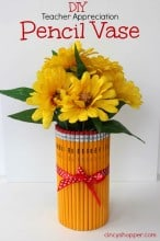DIY Teacher Gift: Pencil Vase