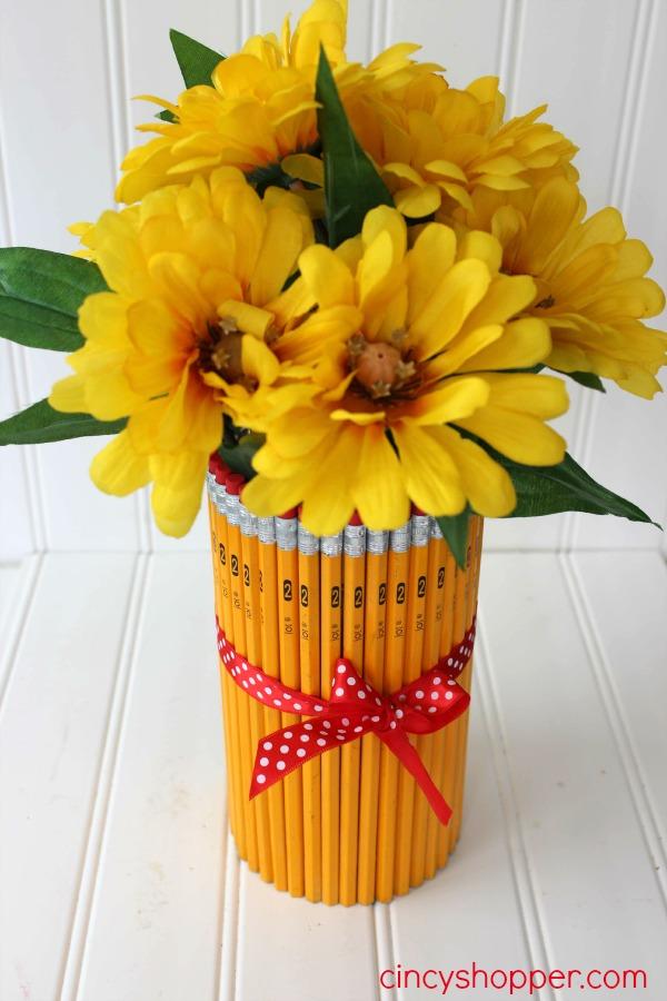 DIY Teacher Gift Pencil Vase