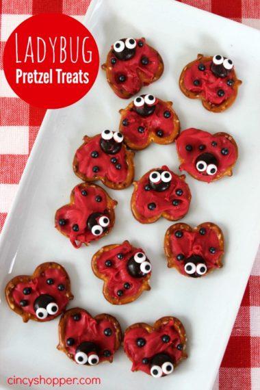 Ladybug Pretzel Treats