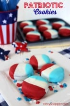 Patriotic Dipped Oreo Cookies