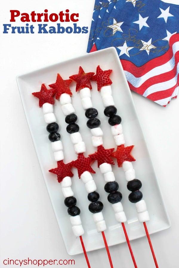 Patriotic Fruit Kabobs Recipe