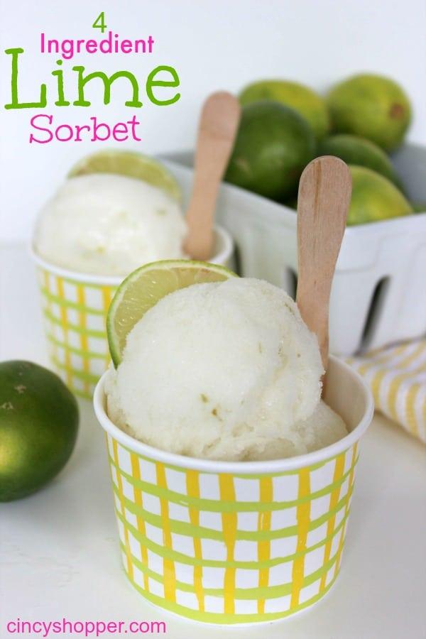 4 Ingredient Lime Sorbet Recipe