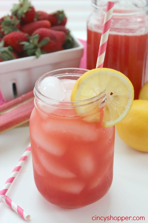 Easy Strawberry Rhubarb Lemonade Recipe