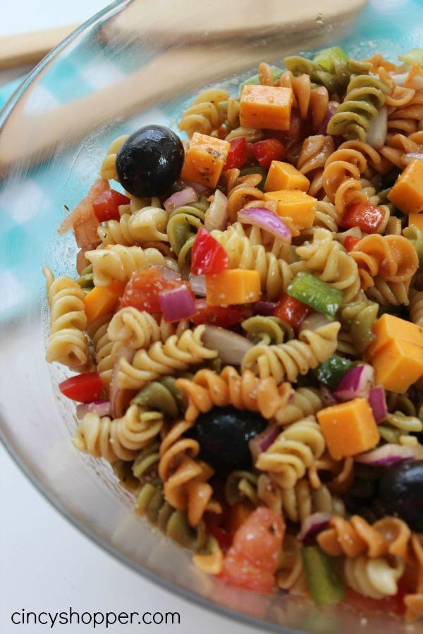 Pasta Salad with Balsamic Vinaigrette. Perfect side dish for potlucks
