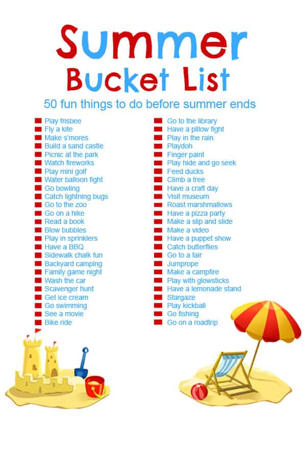 Summer Bucket List 50 Fun Activities For Kids Cincyshopper