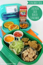 Chicken Taco Bento Lunchbox Recipe