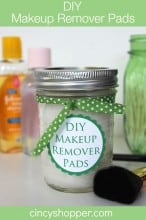DIY Makeup Remover Pads with FREE Printable Label