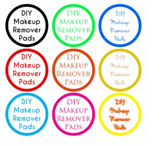 DIY Makeup Remover Pads Labels