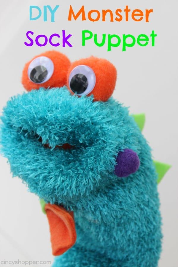 DIY Monster Sock Puppet 1