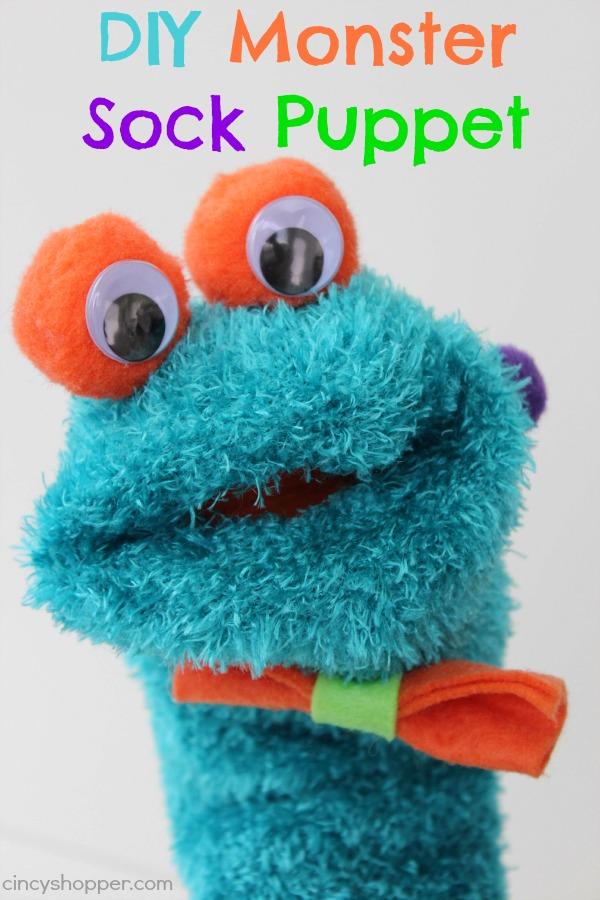 DIY Monster Sock Puppet 2