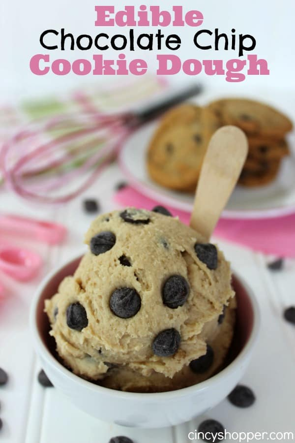 Edible Cookie Dough- Eggless and safe to eat. Super Simple to make in a few minutes time. Perfect by itself or great mixed in your ice cream too!