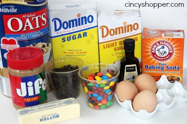 Ingredients to make Monster Cookies