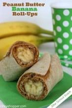 After School Snack:Peanut Butter Banana Roll-Ups Recipe