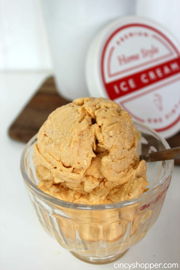 Pumpkin Pie Ice Cream Super easy dessert idea for fall. No machine ...