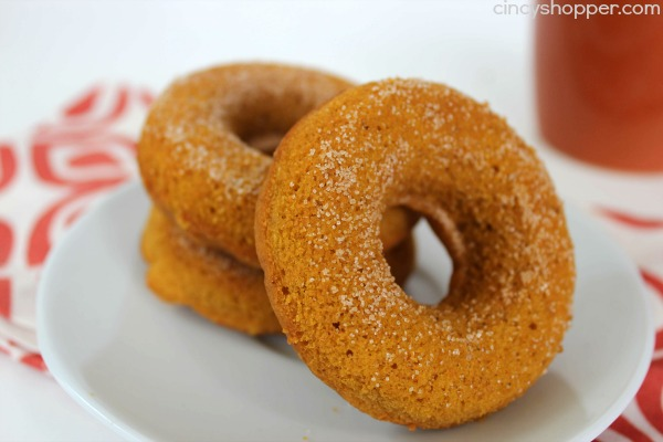 """Baked Pumpkin Donuts Recipe. Easy and perfect for """"On the Go Breakfast"""" this fall. Also great for evening dessert."""
