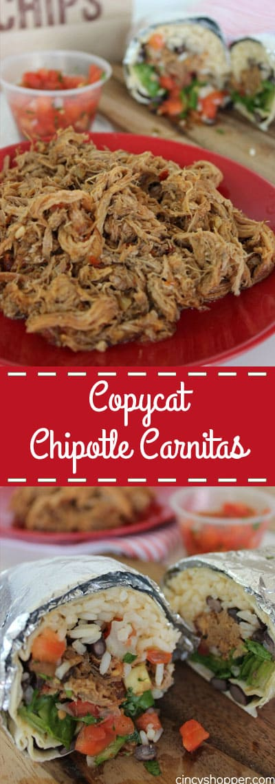 CopyCat Chipotle Carnitas - Make them right at home in your slow cooker!