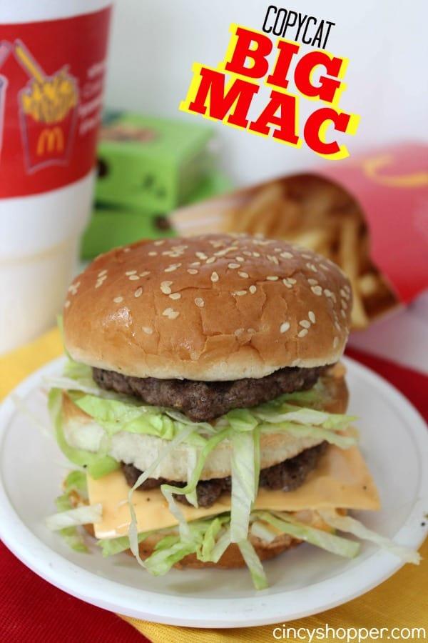 Copycat Big Mac Recipe