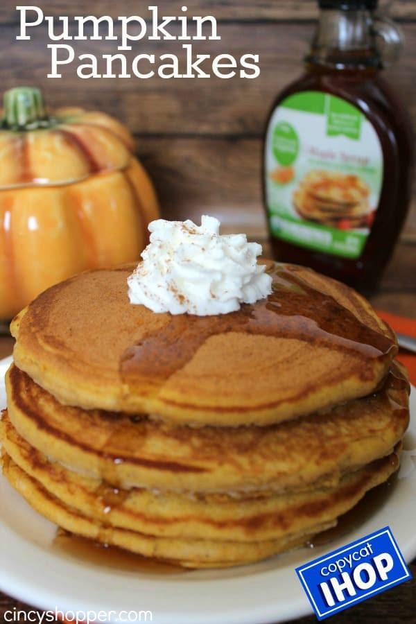 Copycat IHOP Pumpkin Pancakes Recipe