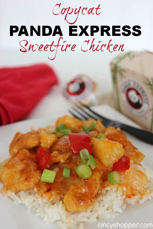 Copycat Panda Express Sweet Fire Chicken Recipe- Loaded with flavor and a bit of heat. Save $$'s and make your favorites at home.