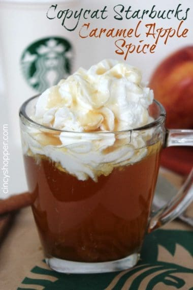 CopyCat Starbucks Caramel Apple Spice Recipe