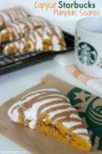 CopyCat Starbucks Pumpkin Scones Recipe