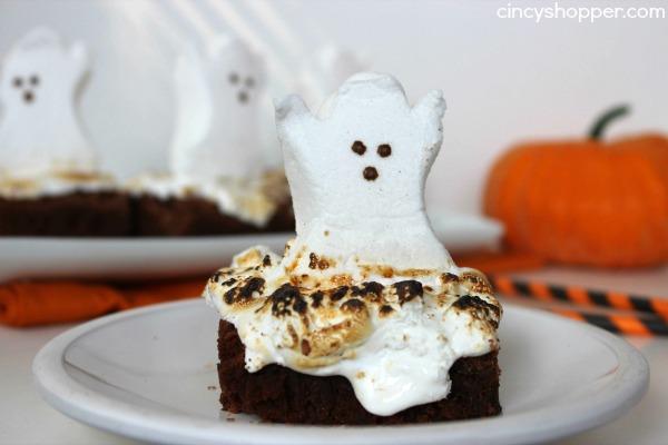peeps ghost brownies recipe 4 - Halloween Brownie Recipe