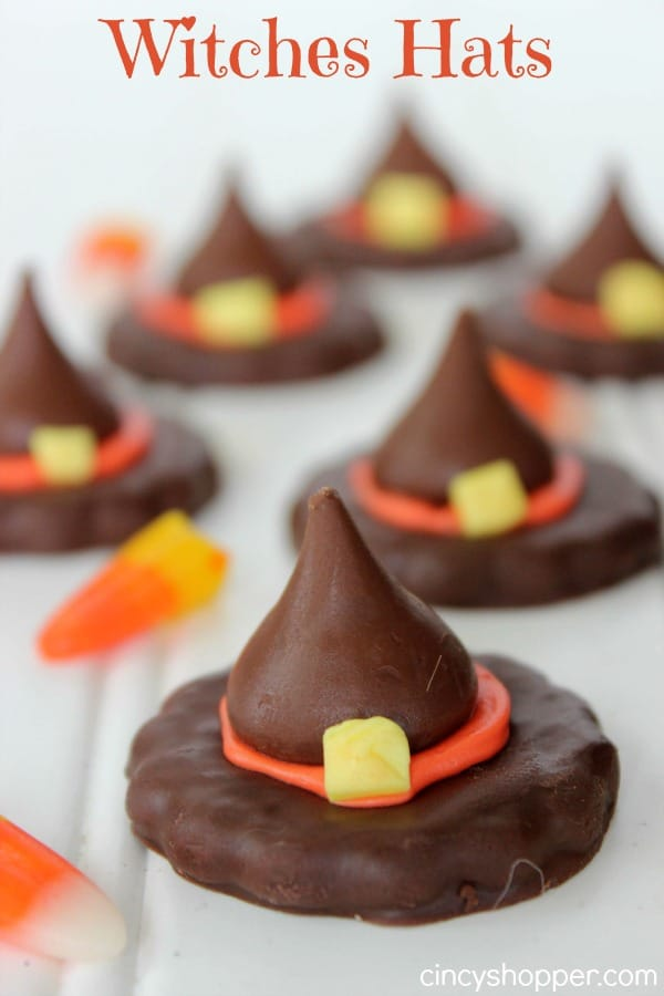 Witches Hats that are so simple and perfect Halloween treat for parties.
